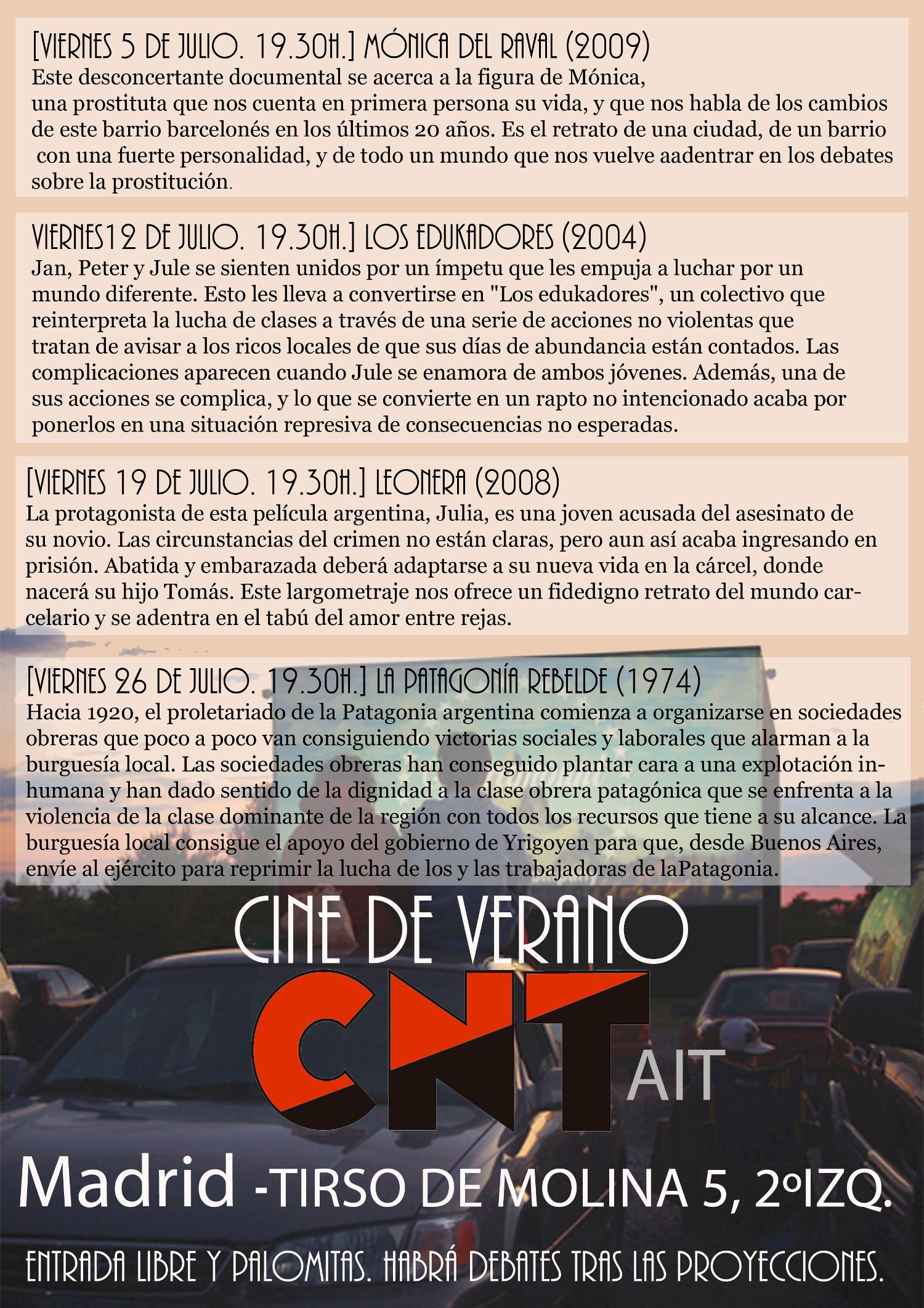 Cine de verano CNT-AIT